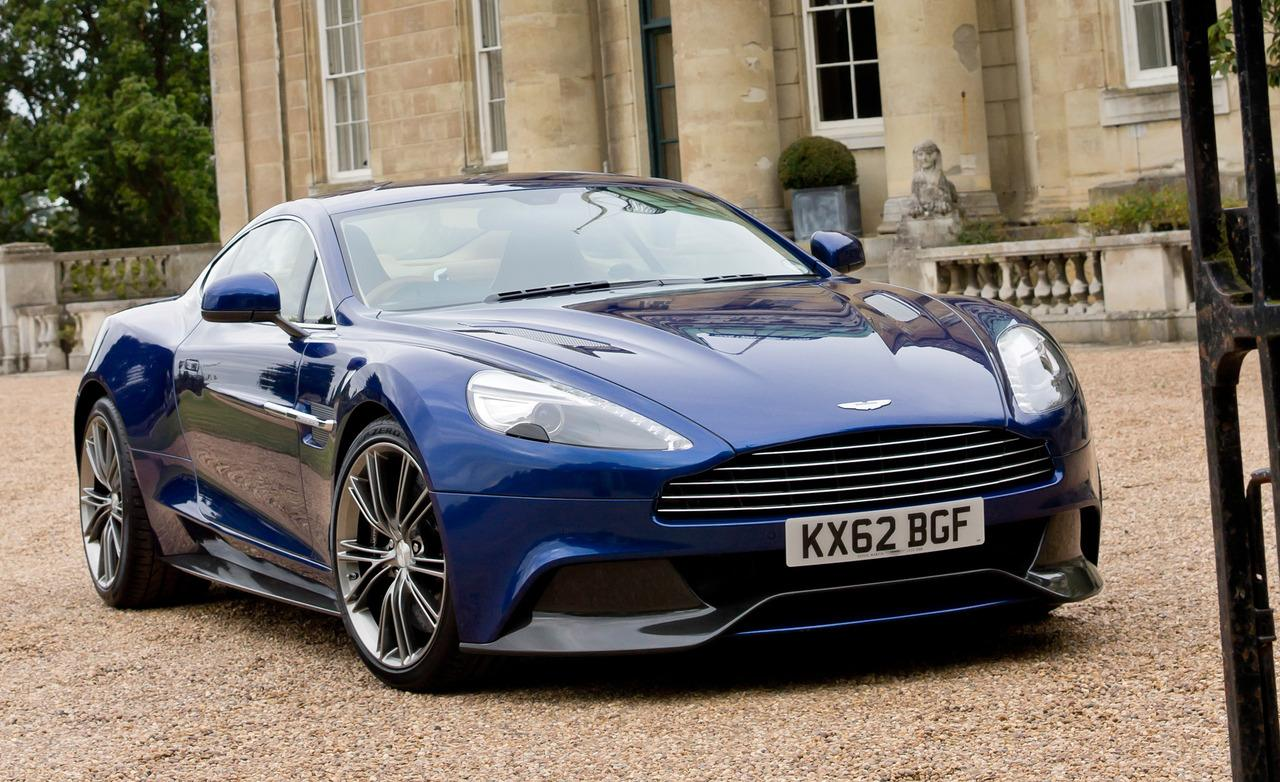 2014 Aston Martin Vanquish Blue Desktop Wallpaper Free