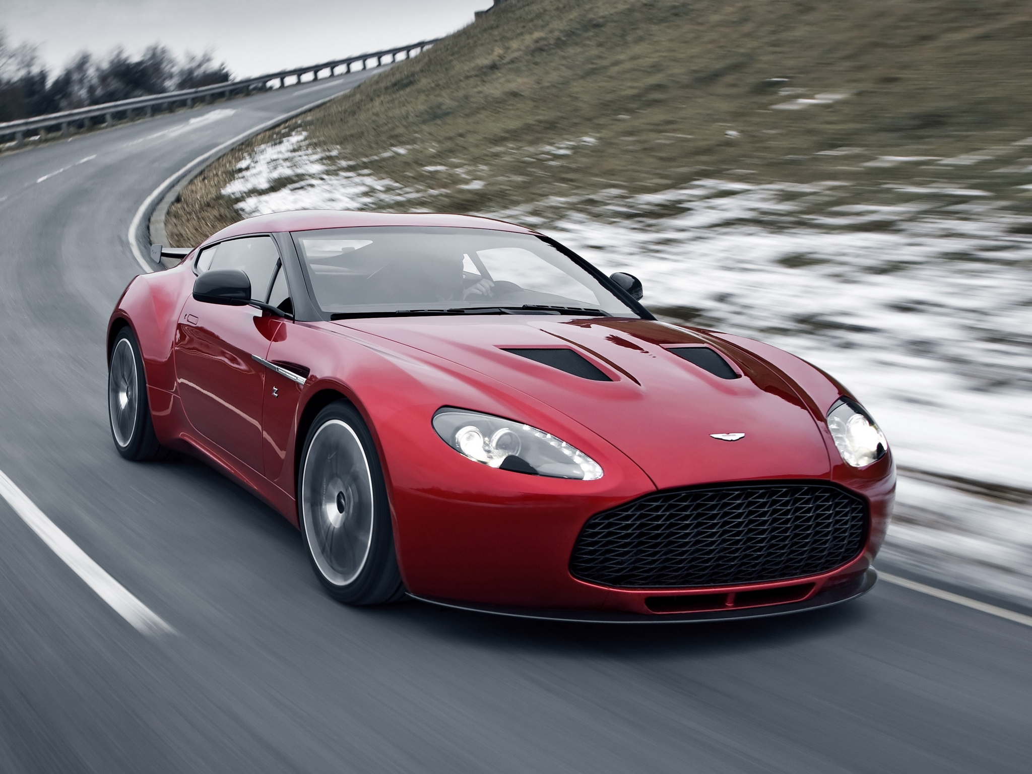 Aston Martin V12 Zagato Background For Free