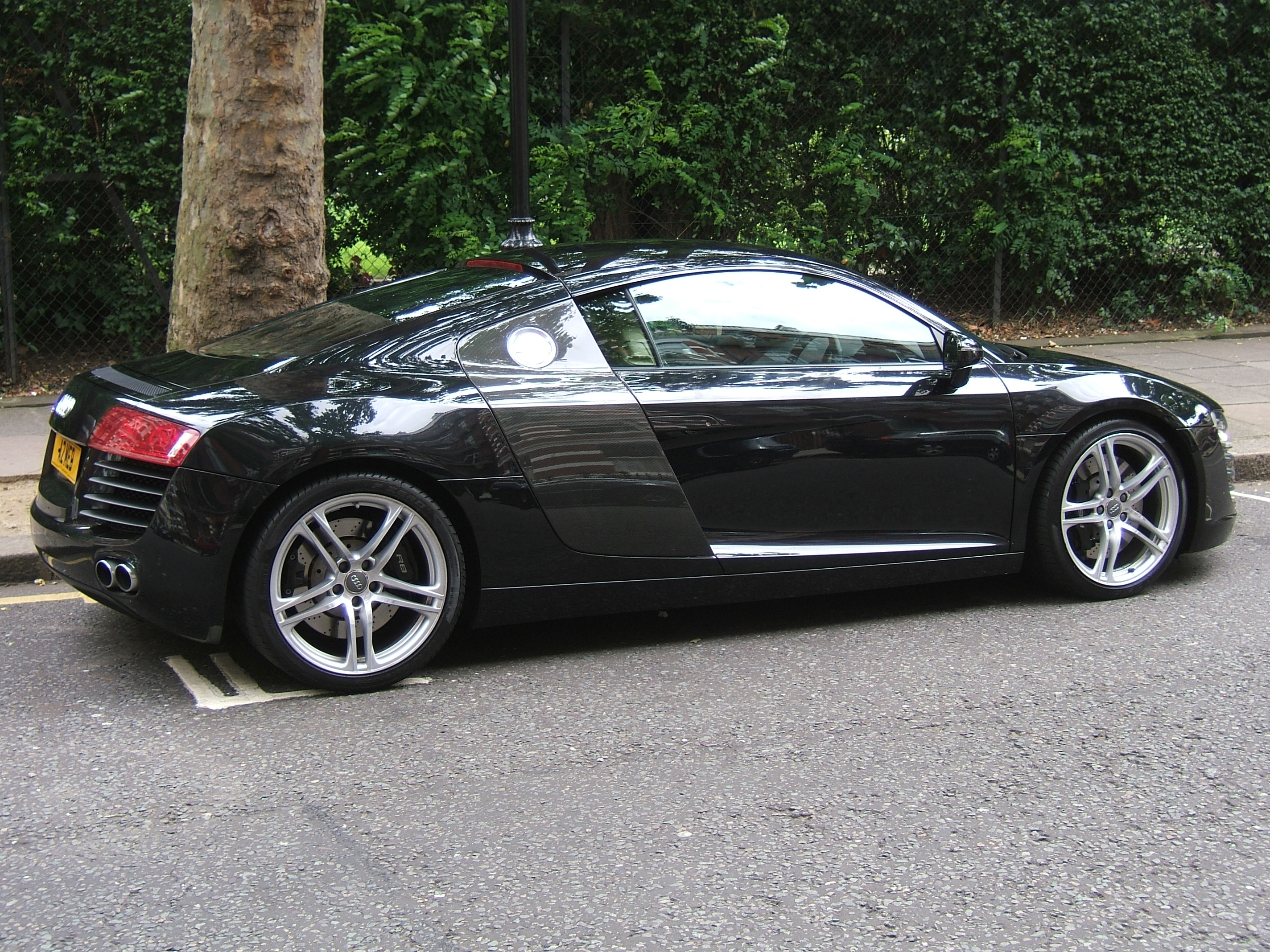 Black Audi R8 Background For Free Download