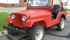 Jeep CJ-5 V6 Red Open Body Screensavers For Ipad