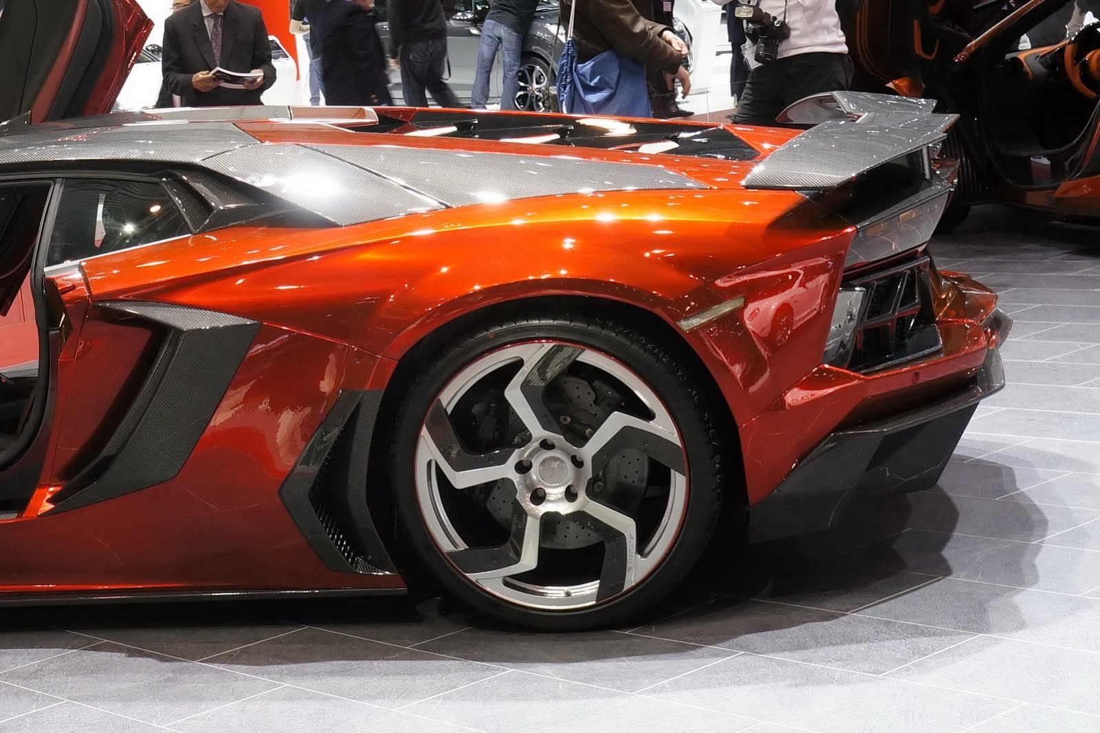 Mansory Grabs Lamborghini Aventador LP700-4 Background For Free