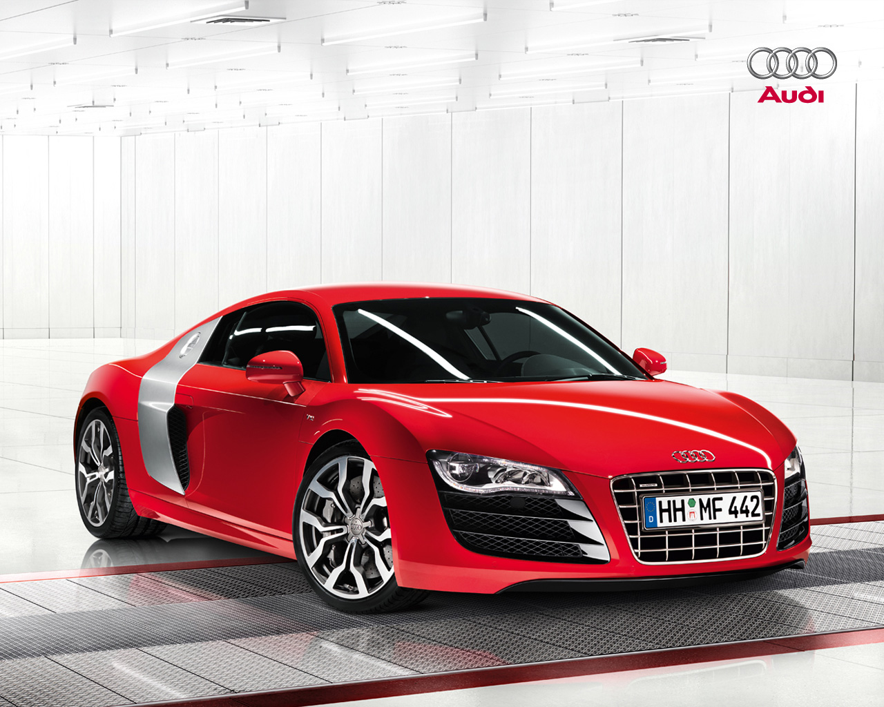 Audi R8 FSI Red Free Wallpaper For Ipad