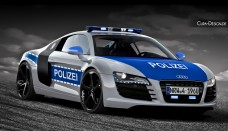 Audi R8 V10 Autobahn Polizei Free Wallpaper For Iphone