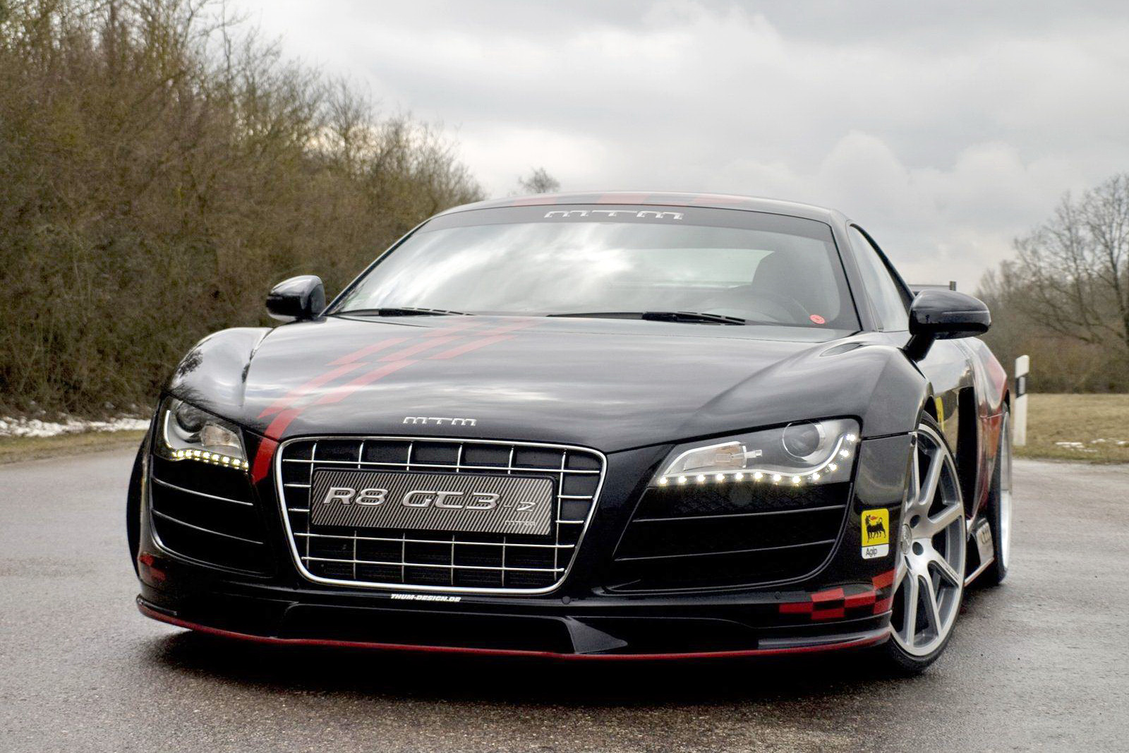 Audi R8 GT3 Black Wallpaper For Background