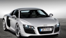 Audi R8 White Silver Wallpaper HD For Desktop