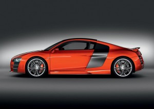 Audi R8 Red TDI LeMans Background For Free