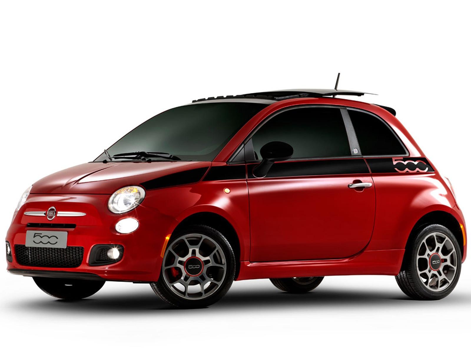 Fiat 500 2012 Vermelho Wallpaper HD Free Wallpaper