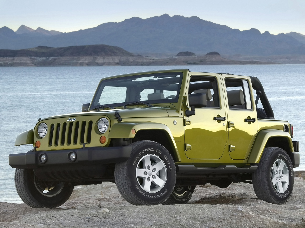 Jeep Wrangler Olive Green Wallpaper Free For Android