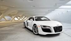 White Audi R8 Wallpaper HD Download