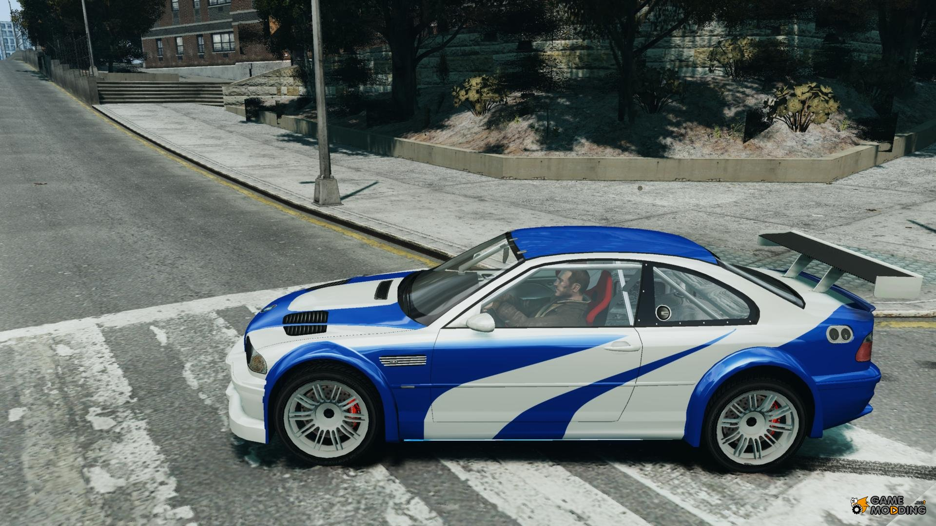 BMW M3 GTR NFS MOST WANTED for GTA 4 Left View Wallpaper For Android