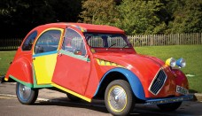 1938 Citroen 2CV6 Picasso Citroen by Andy Saunders Side Angle Wallpaper For Phone