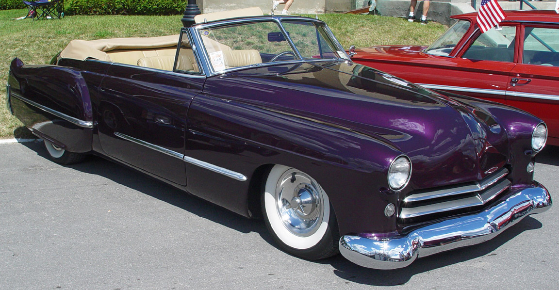 1948 Cadillac Convertible Purple Side Angle Wallpaper For Background