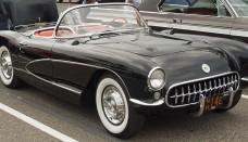 1956 Chevrolet Corvette Black Side Angle Wallpaper Gallery Free