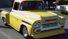 1958 Chevrolet Apache Pickup Yellow Front Angle Wallpapers For Iphone