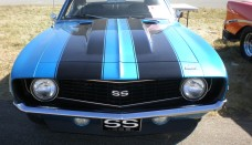 1969 Blue Chevrolet Camaro SS Front Wallpaper Gallery Free