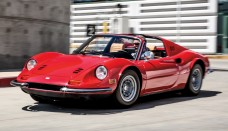 1973 Ferrari Dino 246GTS Front View In Motion Classic Drive Photo Gallery World Cars Desktop Background