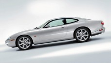 2003 Jaguar XK8 Coupe Silver Sideview Wallpaper For Android