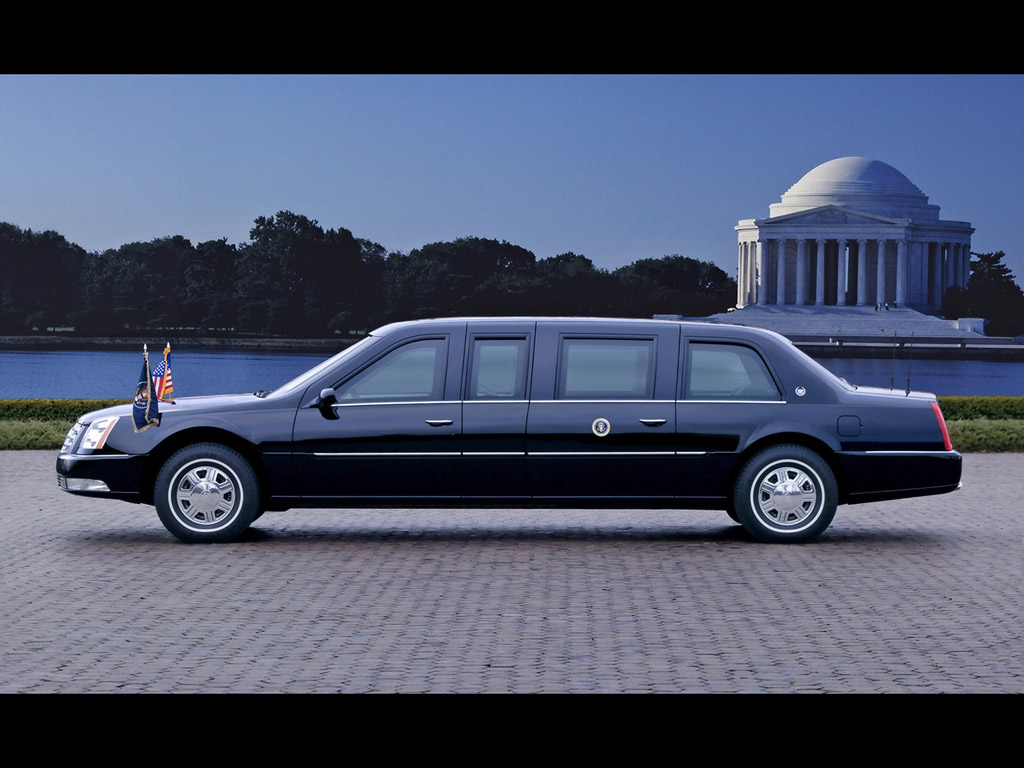 2006 Cadillac DTS Presidential Limousine Jefferson Memorial Wallpaper For Computer