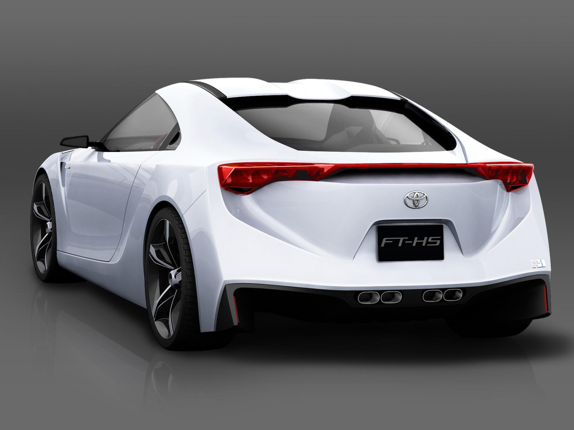 2007 Toyota FT HS Concept Rear Angle Studio Wallpaper Download Wallpaper
