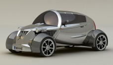 2008 Citroen 2CV Concept Design by David Portela Side Angle Wallpaper Backgrounds