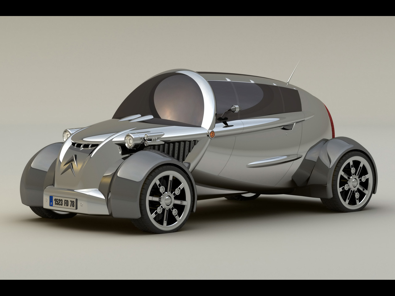 2008 Citroen 2CV Concept Design by David Portela Side Angle Wallpaper Backgrounds