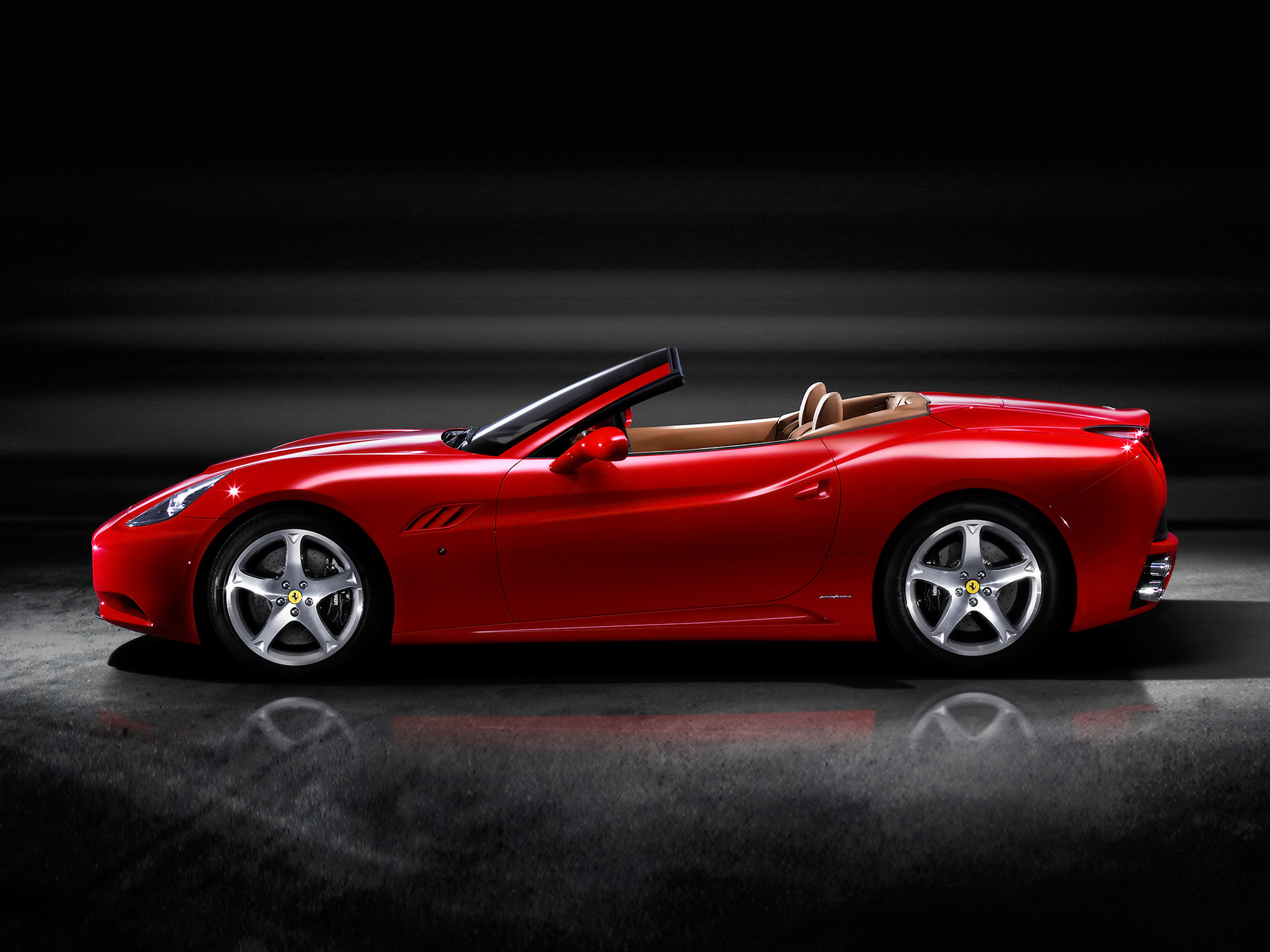 2009 Ferrari California Side World Cars Desktop Background