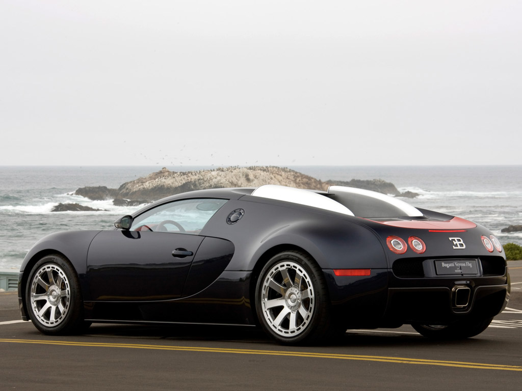 2009 Bugatti 164 Veyron Fbg Par Hermes Side View Desktop Background