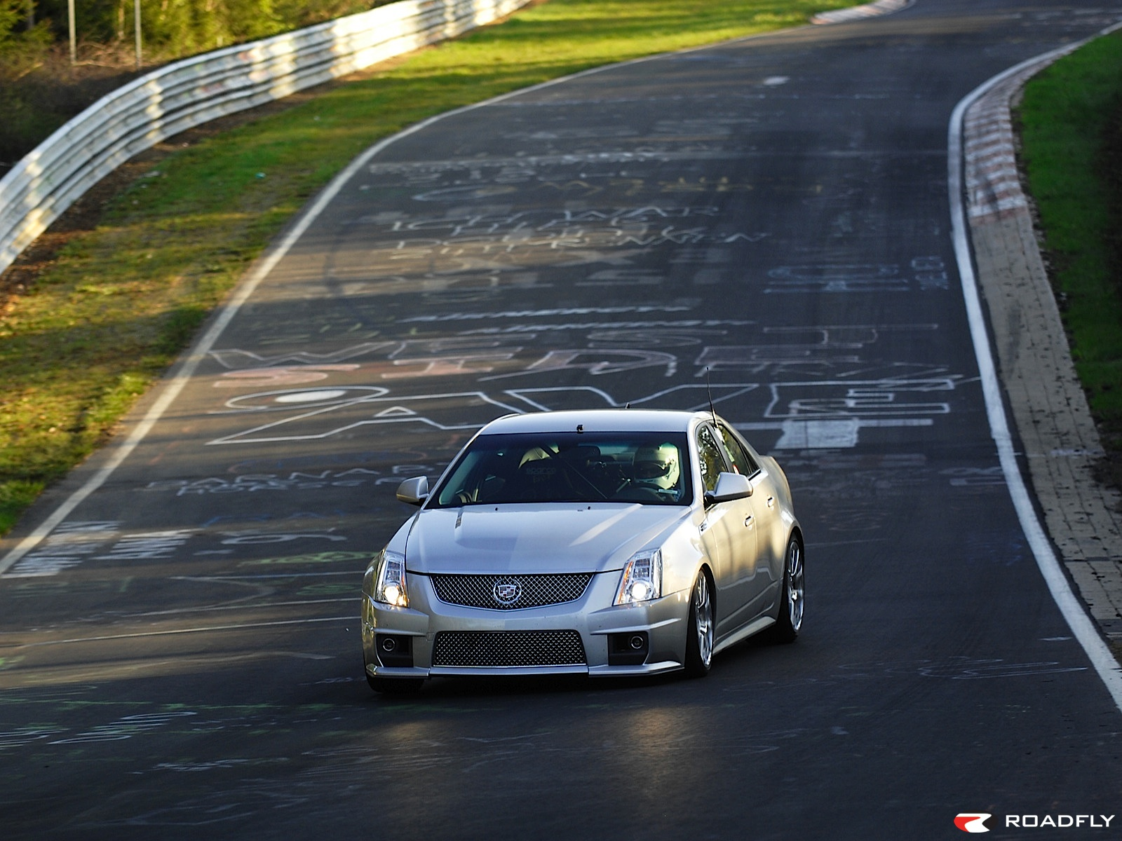 2009 Cadillac CTS-V faster than Carrera Wallpaper For Phone