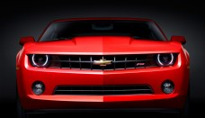 2010 Chevrolet Camaro RS Red Front Wallpaper For Ios