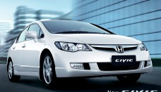 2010 Honda Civic New Color White Show Wallpaper Backgrounds