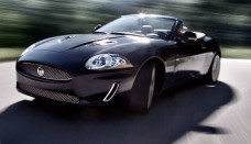 2010 Jaguar XKR Black With Open Roof  Convertible Wallpaper For Desktop
