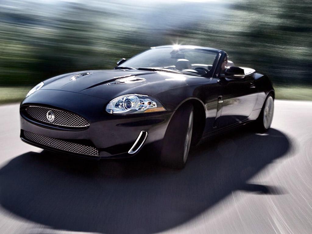 2010 Jaguar XKR Black With Open Roof  Convertible Wallpaper For Desktop