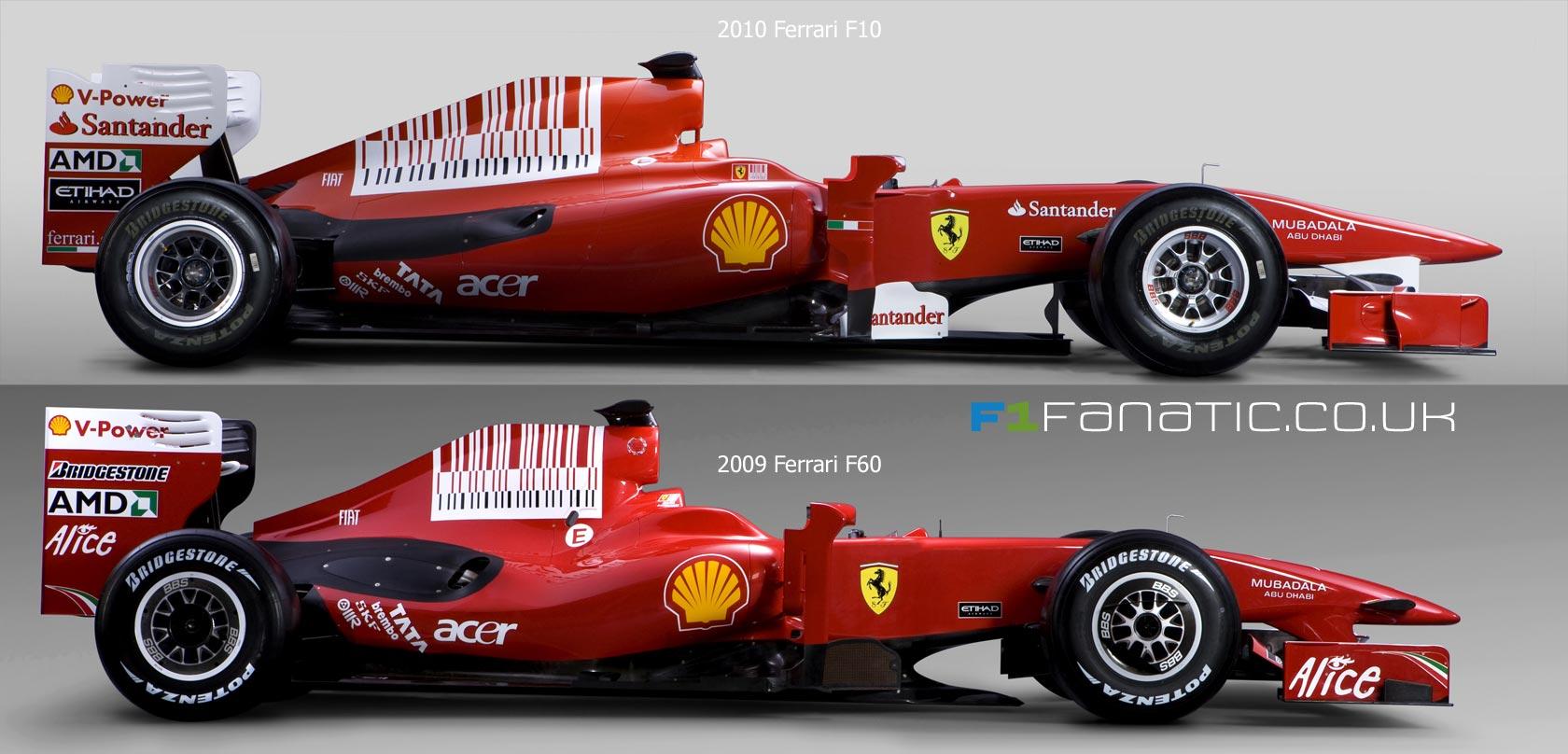 2010 Ferrari F10 and 2009 Ferrari F60 F1 Side by Side Pictures World Cars Wallpaper For Desktop