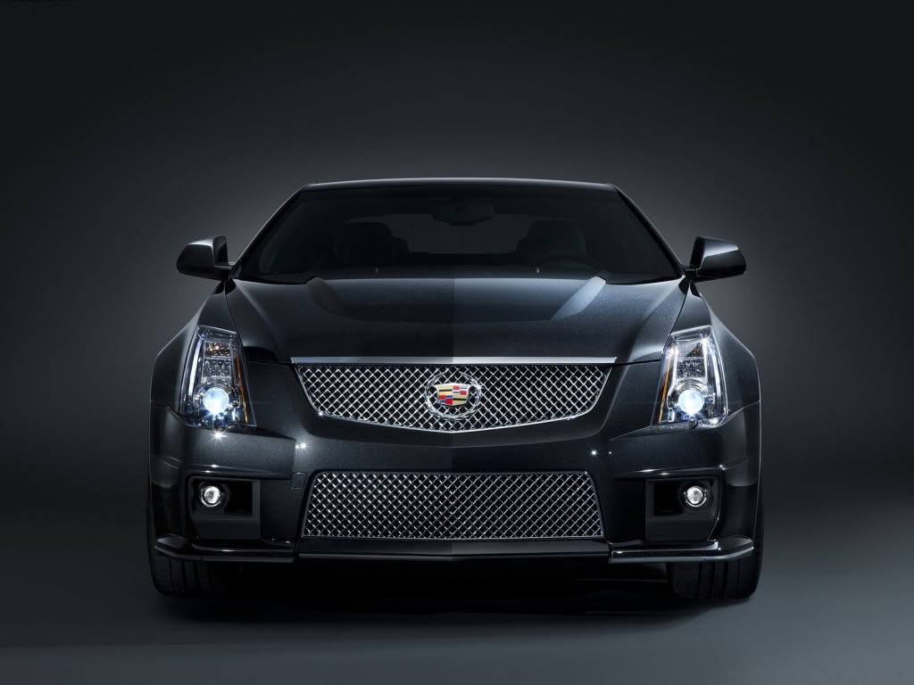 2011 Cadillac CTS V Black Diamond Edition Front View Wallpaper For Background