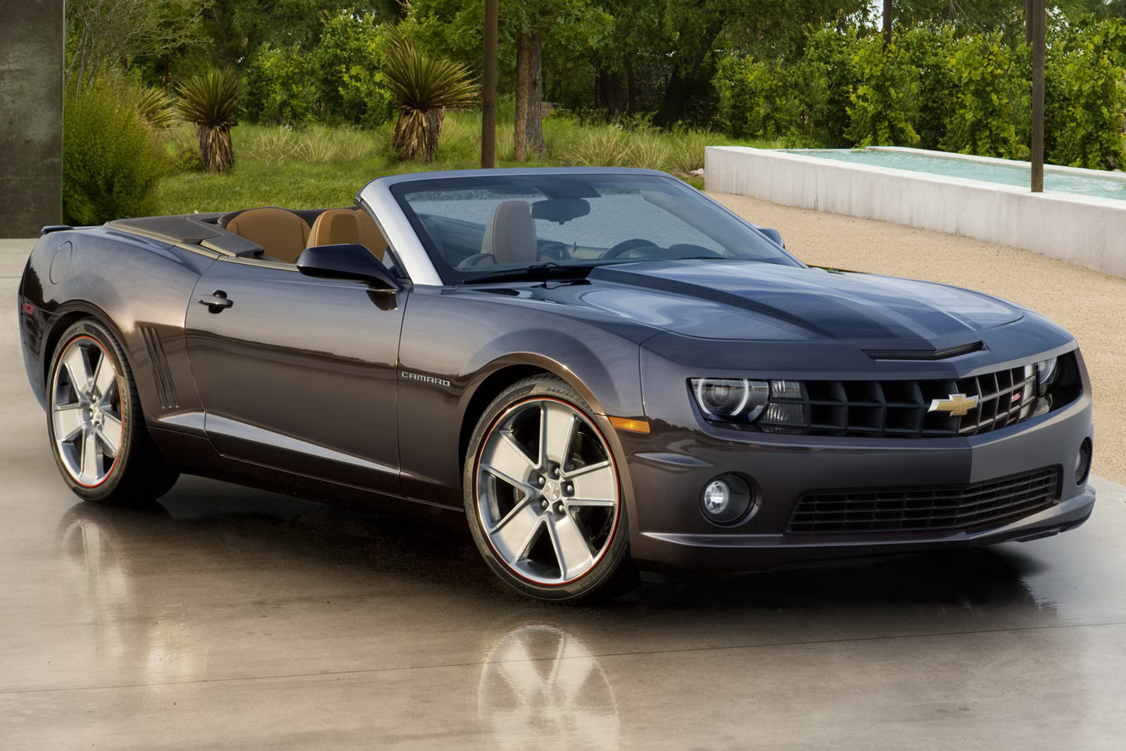 2011 Chevrolet Camaro Convertible Goes to Super Bowl XLV MVP Wallpaper For Background