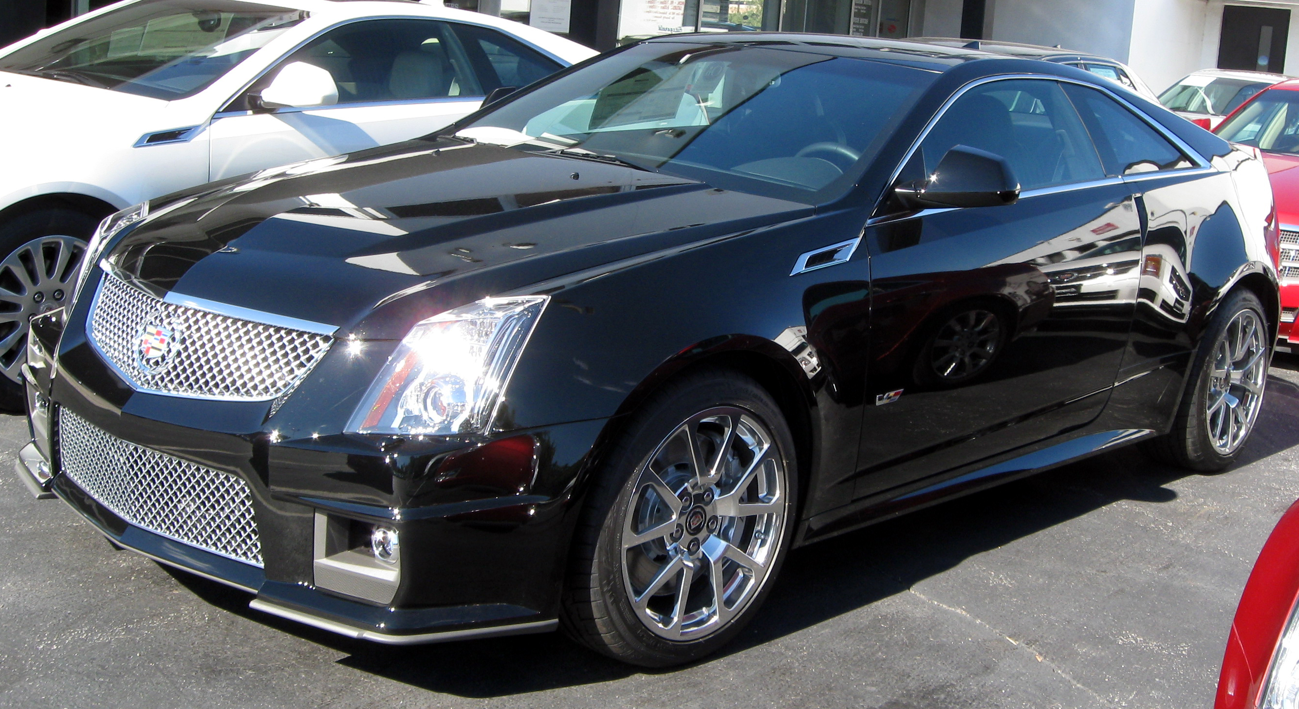 2011 Cadillac CTS V Coupe Front Wallpaper For Desktop