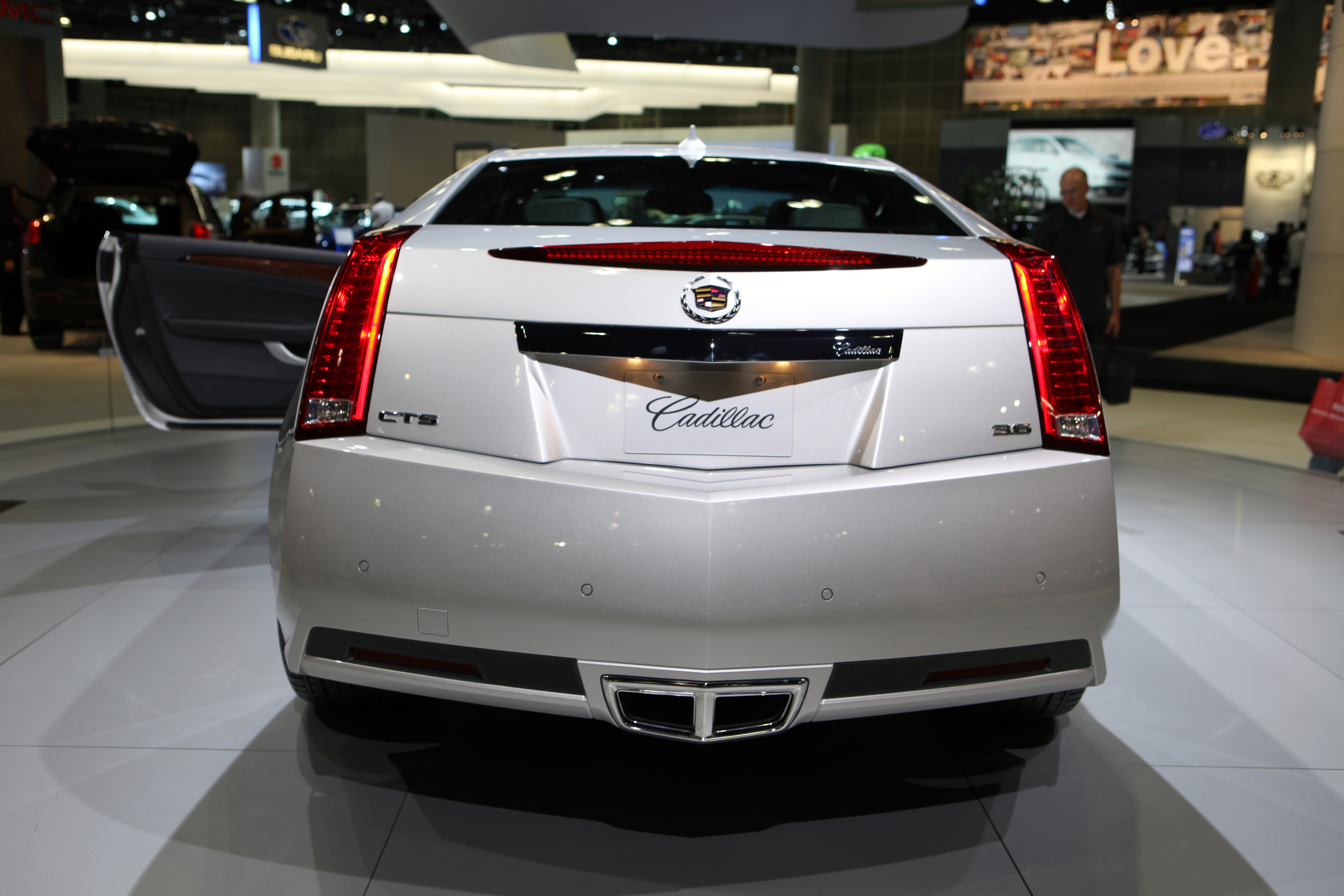 2011 Cadillac CTS Coupe Rear Wallpaper For Phone
