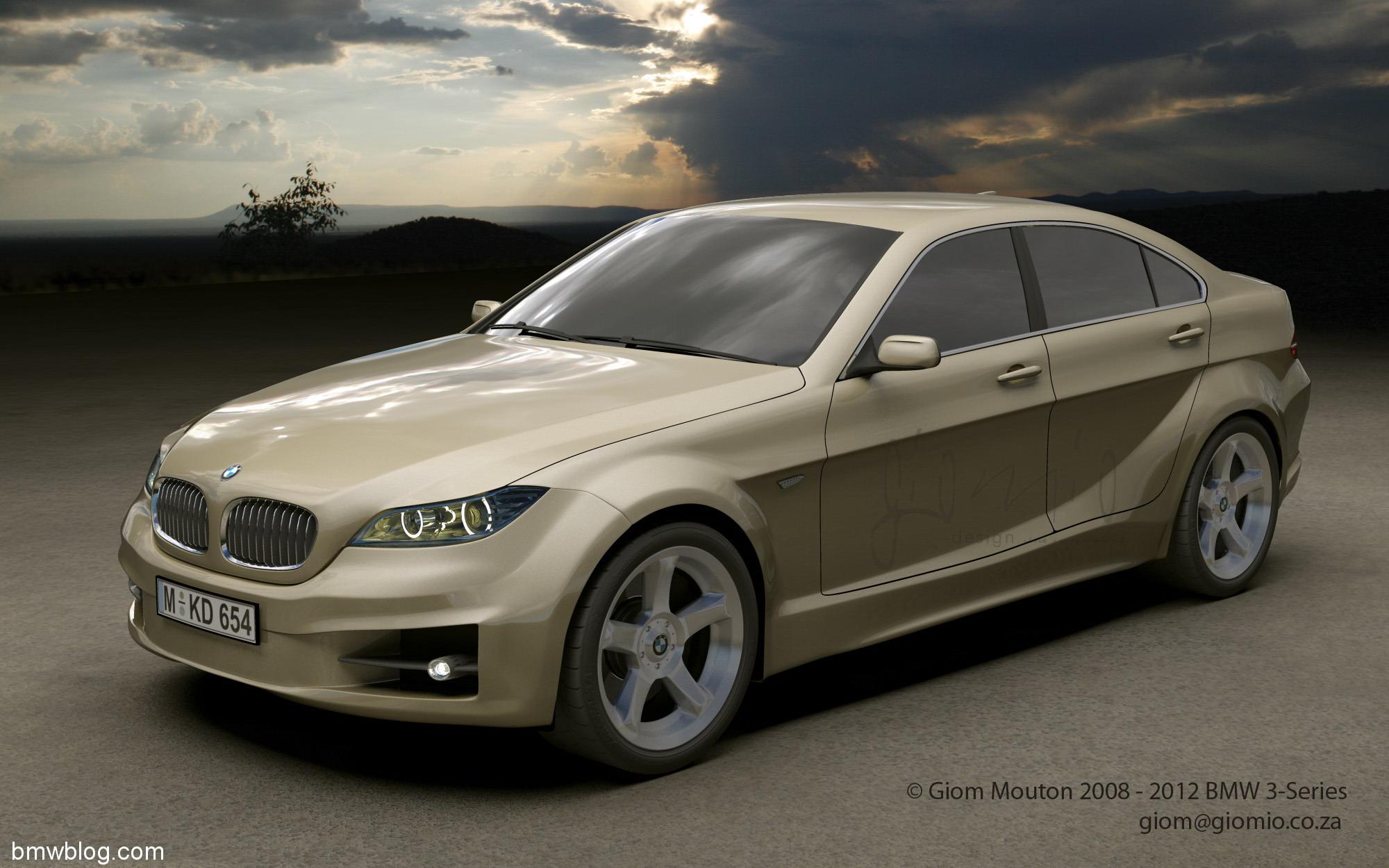 2012 BMW 3 Series Concept 3D View Desktop Backgrounds
