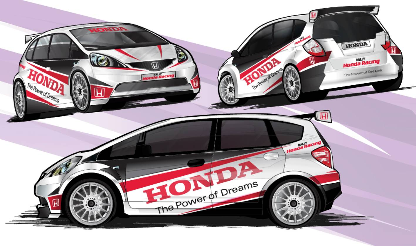 Honda Jazz G2 ARC Race Car Teased In New Artwork Wallpapers For Ipad