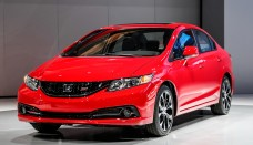 2013 Honda Civic Si Sedan Front Left View High Resolution Wallpaper Free