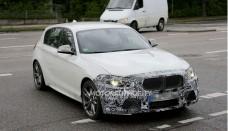 2014 BMW 1 Series Hatchback Facelift Spy Shots Wallpapers HD