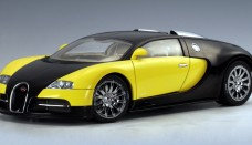 AUTO Art Bugatti EB 16.4 Veyron Show Car Black Yellow Wallpapers Download