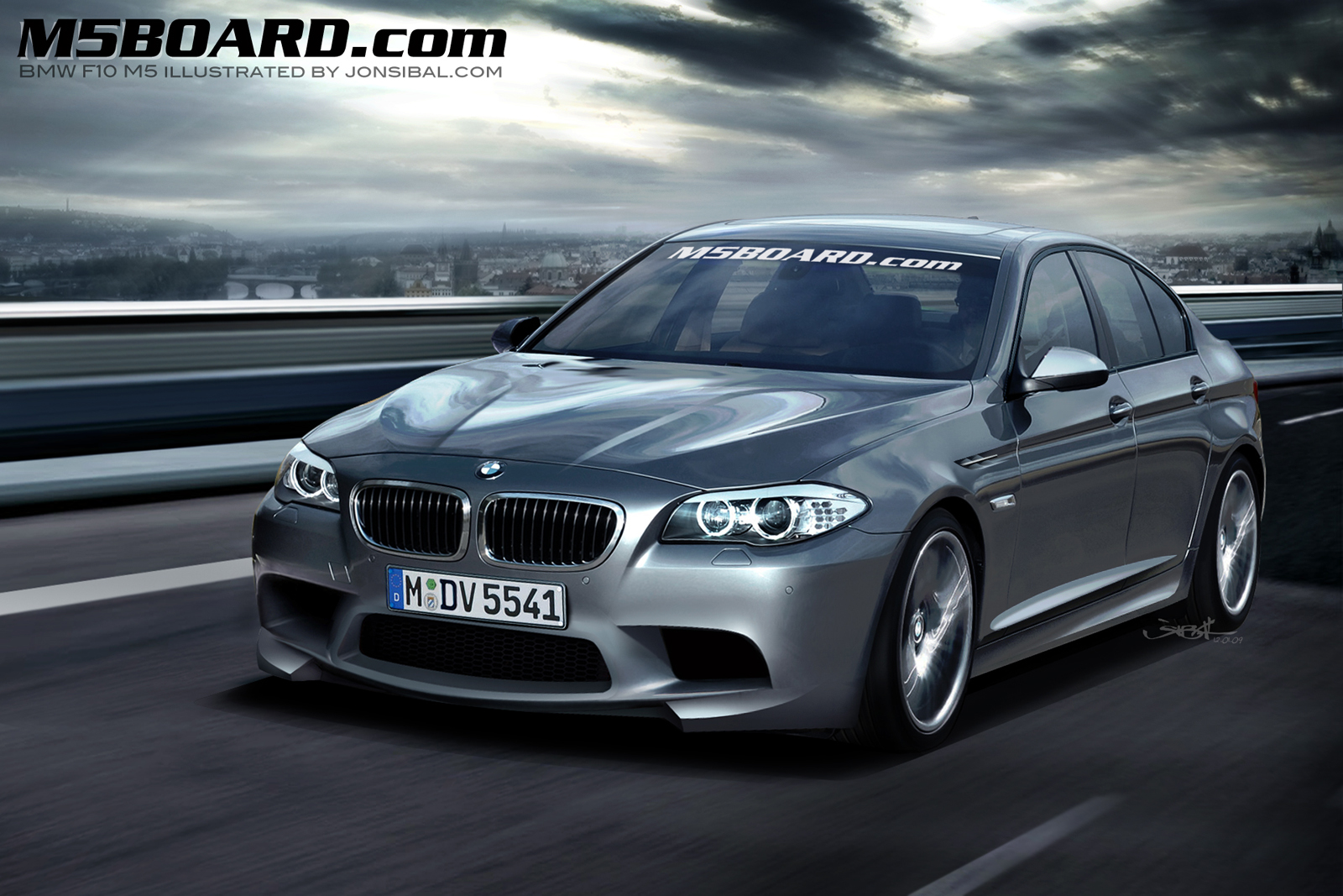 BMW M5 F10 Render M5BOARD Wallpapers Desktop Download