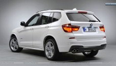 BMW X3 Back Pose In White Color Desktop Backgrounds