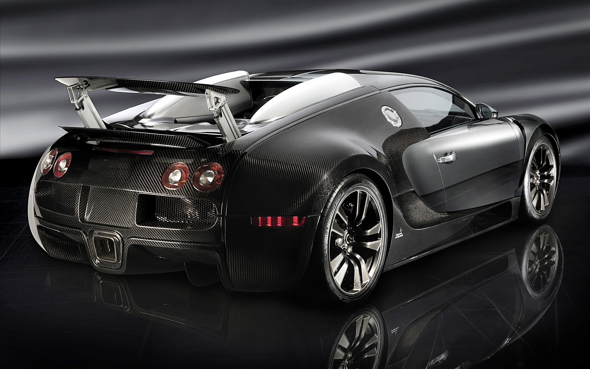 Black Bugatti Veyron 16.4 HD Wallpaper Desktop Download Wallpaper