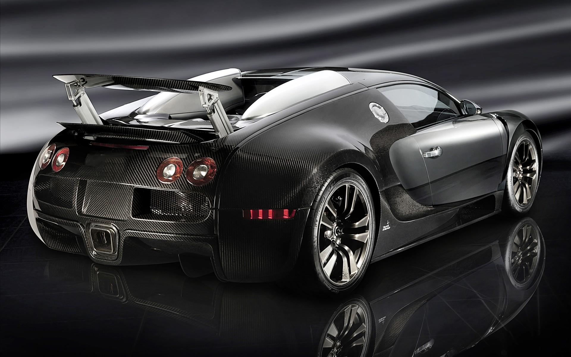 Black Bugatti Veyron 16.4 HD Wallpaper Desktop Download