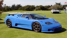 Bugatti EB110 Sports Cars Photo Side View Of Blue Color Wallpaper HD