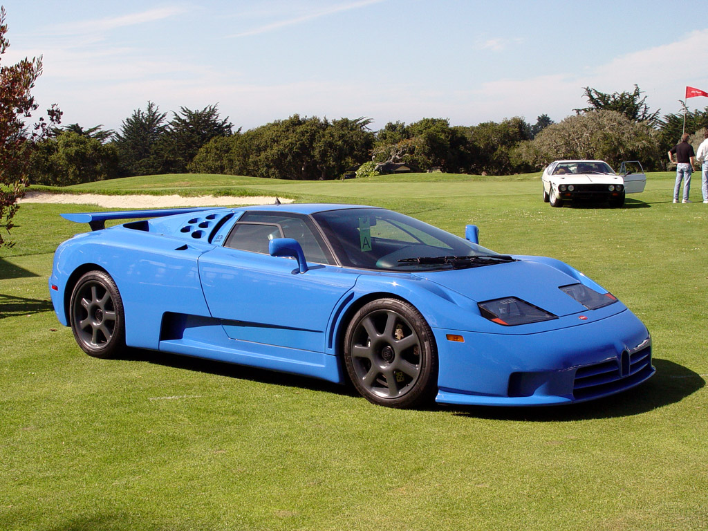 Bugatti EB110 Sports Cars Photo Side View Of Blue Color Wallpaper HD