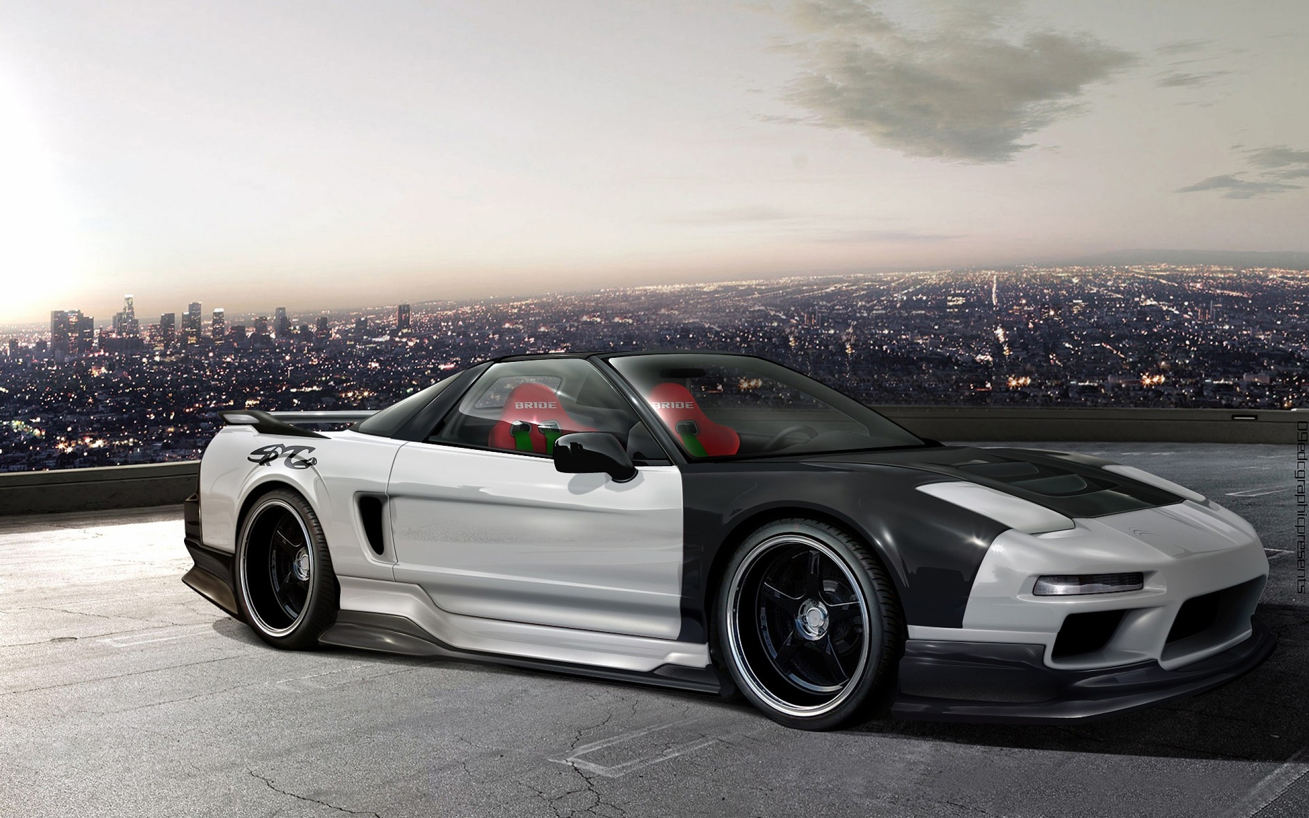 Cityscapes Cars Honda Nsx Virtual Tuning Wallpapers For Android