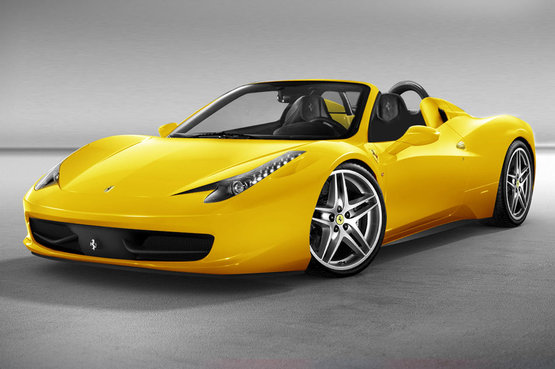 Ferrari 458 Spider Yellow Car Model Specifications with World Free Download Image Of